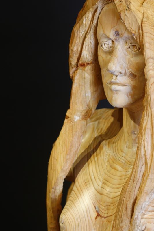 statue dans ANTIK cuivre couleurs Moderne Abstrait Assis acte sculpture